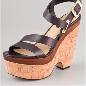 New Rachel Zo Sharon Wedge Sandals Brown size 11